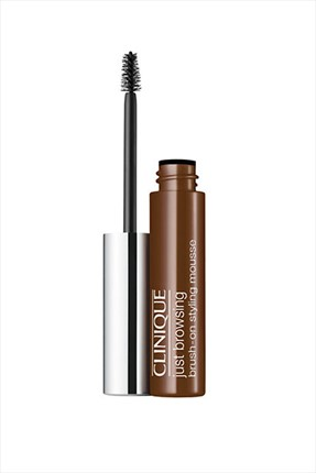 Clinique Koyu Kahverengi Kaş Maskarası - Just Browsing Brush On Styling Mousse 03 Deep Brown 020714755898