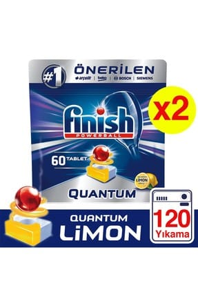 Finish Quantum 120 Tablet Bulaşık Makinesi Deterjanı Limon (60x2)