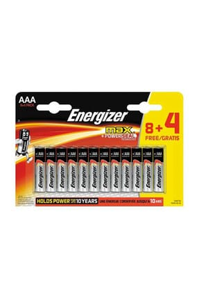 Energizer Alkaline Max Power Seal 8+4 AAA İnce Pil
