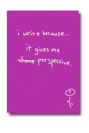 DEFFTER I Write Because It Gives Me Perspective Çizgili Not Defteri  /