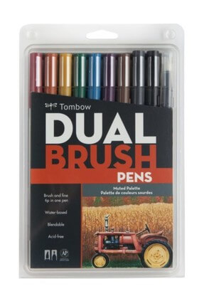 Tombow  Dual Brush Pen 10 RENK SET MUTED