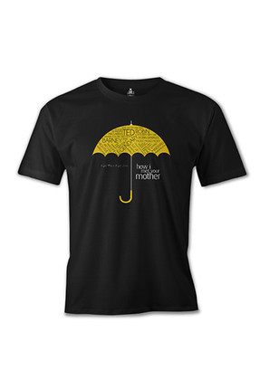 Lord T-Shirt How I Met Your Mother - Umbrella Siyah Erkek Tshirt - es-583