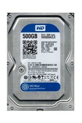WD Blue 500GB SATA3 7200rpm 32MB Pc Harddisk - WD5000AZLX