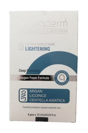 mineaderm Normal Ciltler İçin Arındırıcı Maske - Oxygen Bubble Mask Lightening 4 x 10 ml 8680525352093
