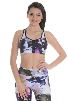 Running Bare Zip Me Push Up Crop Spor Sütyeni
