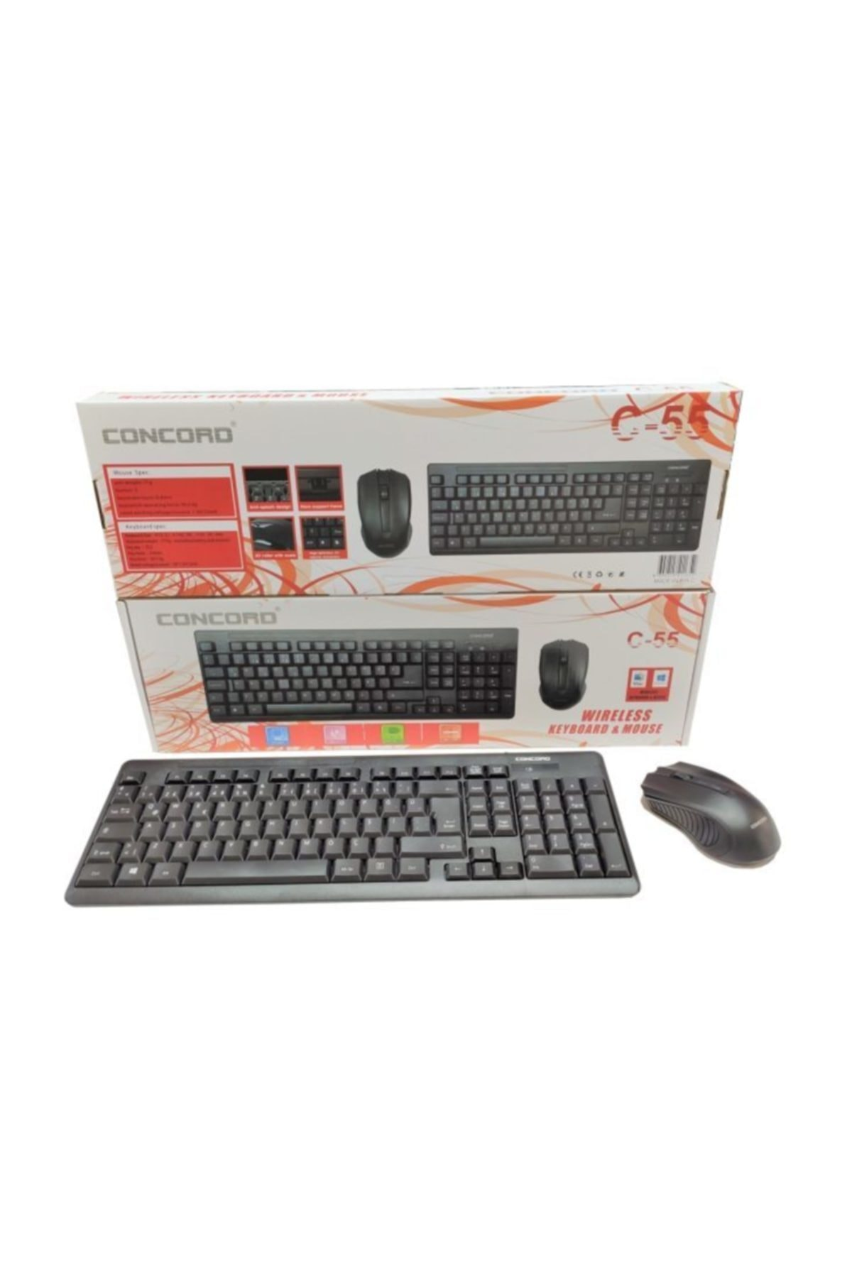 Concord C-55 Wıreless Keyboard + mouse 1