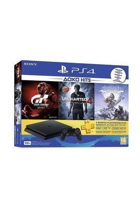 Sony Playstation 4 Slim 500 GB + Gran Turismo + Uncharted 4 + Horizon Zero + PSN Plus (Eurasia Garantili)