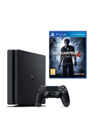 Sony Playstation 4 Slim 500 GB + PS4 Uncharted 4