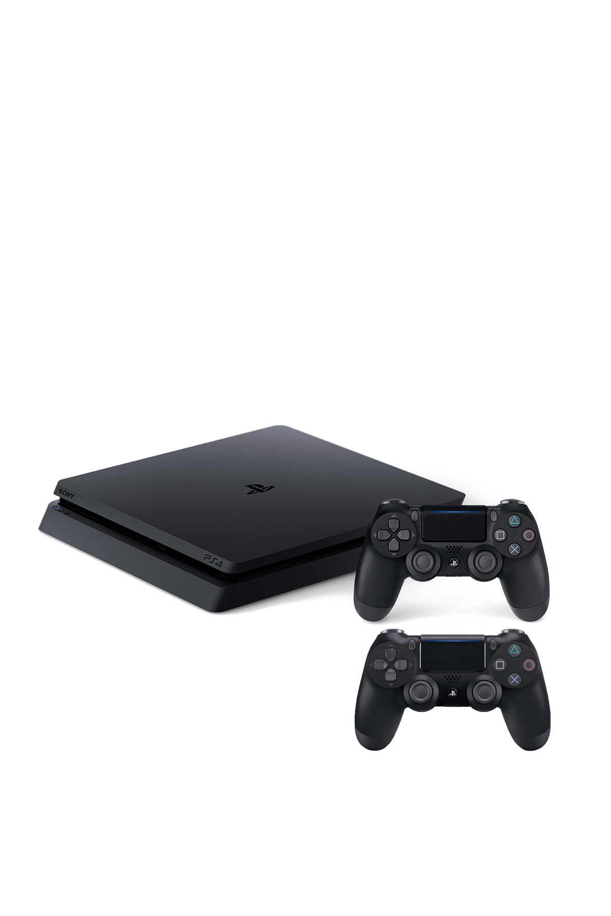Sony Playstation 4 Slim 500 GB + 2. PS4 Kol + PS4 Pes 2020 + PS4 Uncharted 4 2