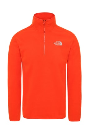 THE NORTH FACE 100 Glacier 1/4 Zip Erkek Sweatshirt Turuncu