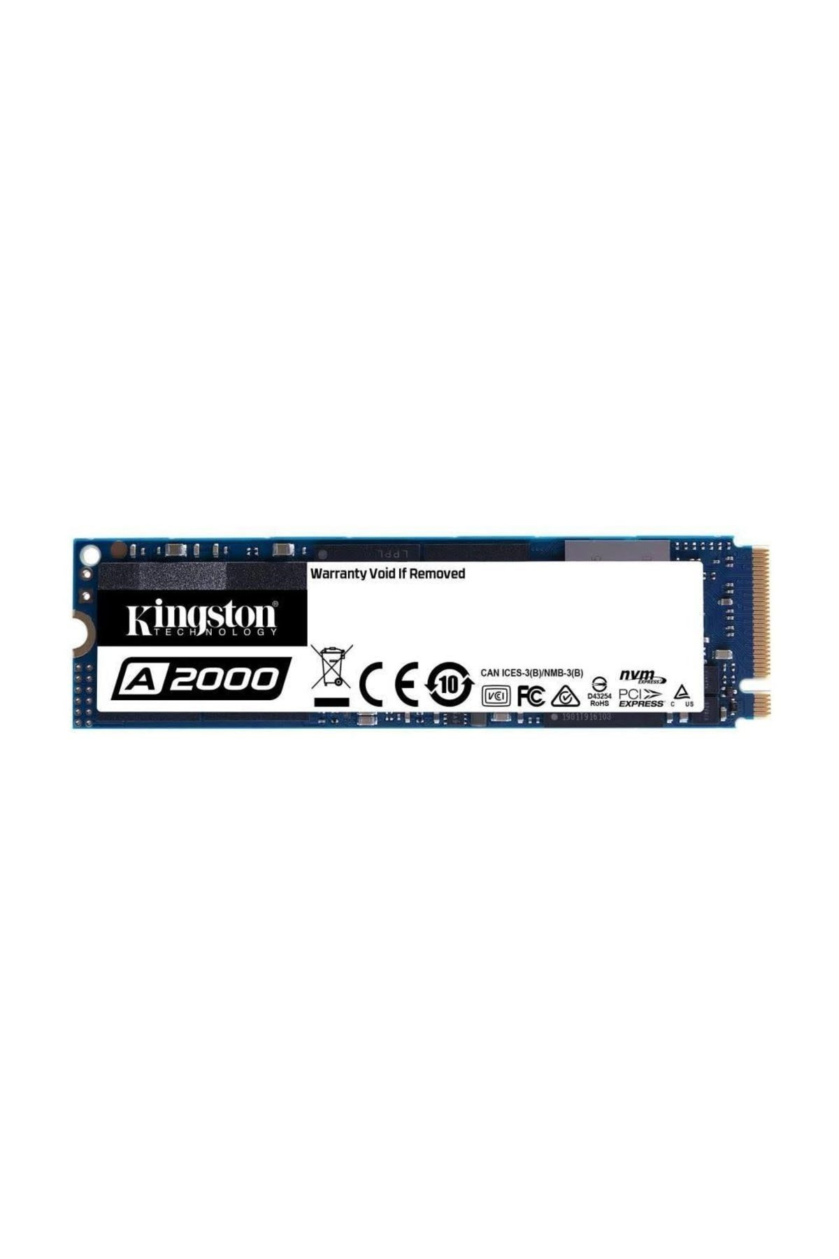 Kingston A2000 250GB 2000/1100MB/S NVMe M.2 2280 PCIe SSD (SA2000M8/250G) 2