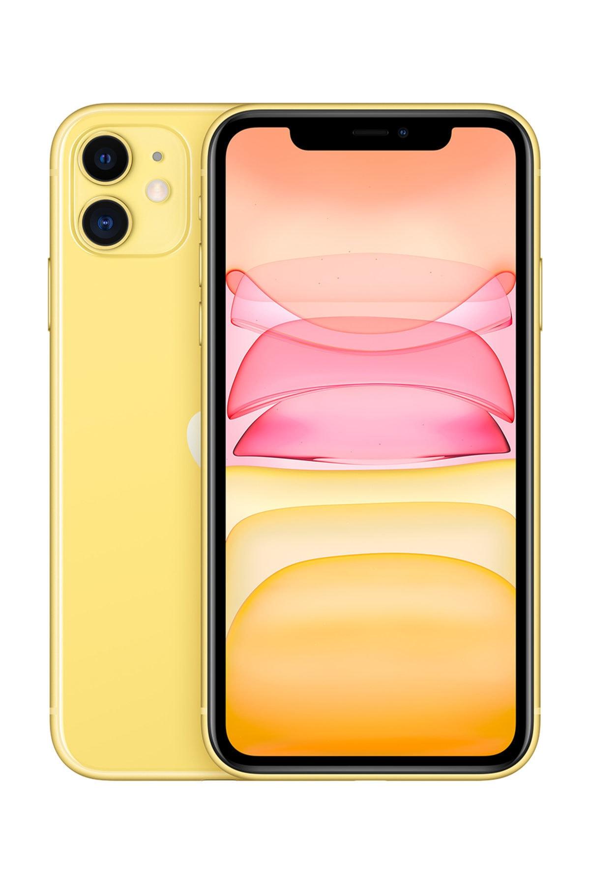Apple iPhone 11 64GB Sarı Cep Telefonu (Apple Türkiye Garantili) Aksesuarlı Kutu 1