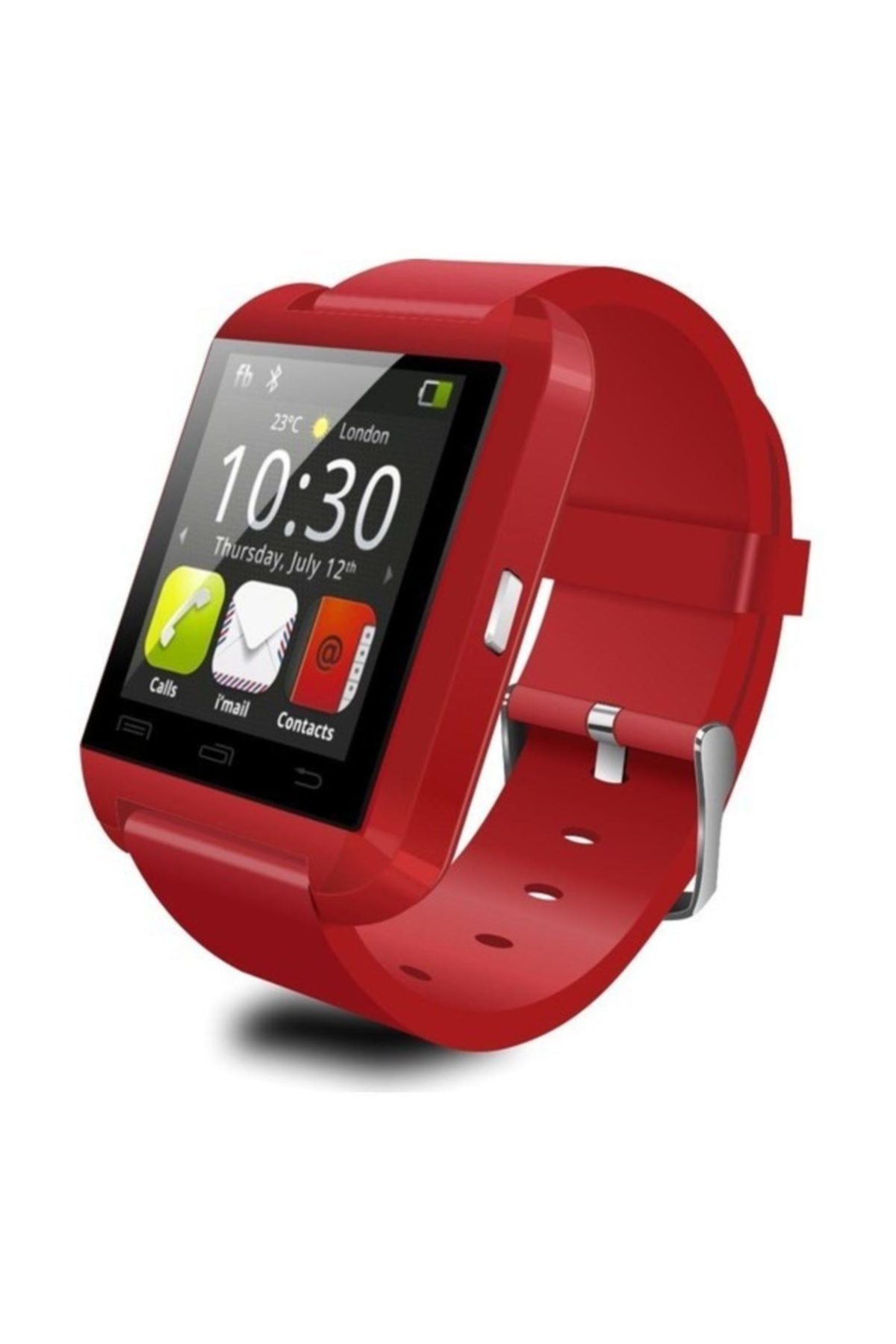 POLYGOLD U8 Akıllı Saat Smart Watch Ios Ve Android Uyumlu Bluetooth Saat Kırmızı 1