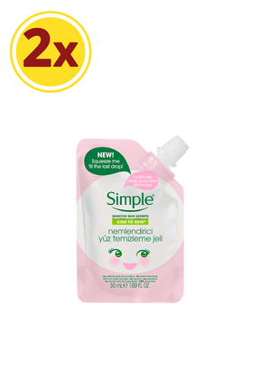 Simple Kind To Skin Mini Nemlendirici Yüz Temizleme Jeli 50 Ml X2