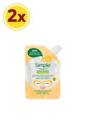 Simple Kind To Skin Mini Güneş Koruyuculu Nemlendirici 50 Ml X2