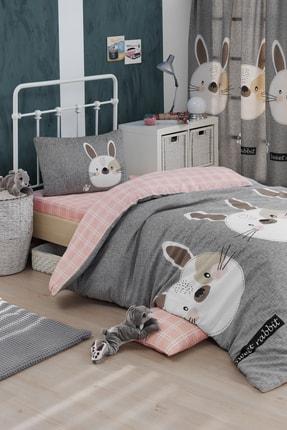 Ev & Ev Home Kolay Ütülenir Nevresim Takımı Tek Kişilik Tavşancık A
