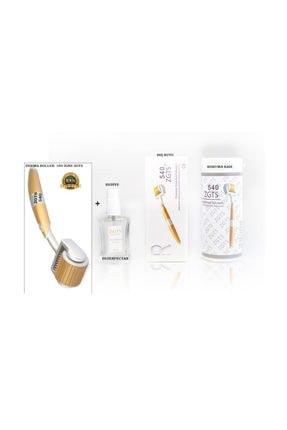 Zgts Gold Line Dermaroller   Orijinal Titanyum 540 Iğneli  Derma Roller Saç Yüz Vücut 9900000307325 1.00 mm