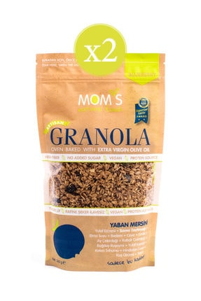 Mom's Natural Foods Yaban Mersini Granola 360 gr - 2'li