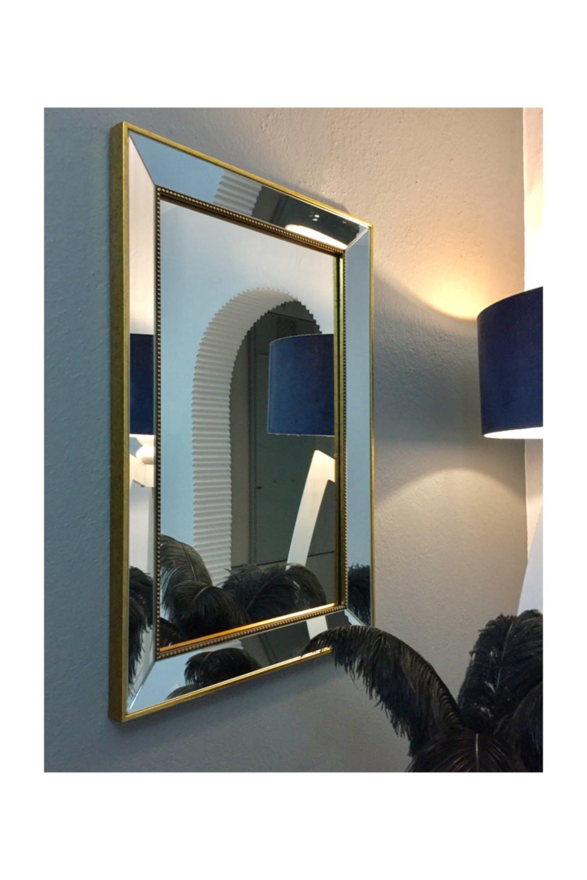 MONEayna Tekli Ayna Çerçeveli Dekoratif Salon Ofis Duvar Aynası 1