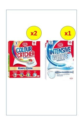 K2R Colour Catcher Renk Koruyucu Mendil 10'lu 2+1 intensive White