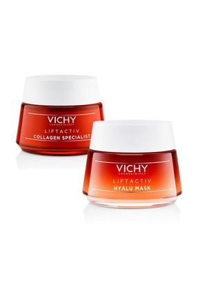 Vichy Liftactiv Collagen Krem 50 Ml |  Liftactiv Collagen Maske50 Ml | Orijinal Boy Set|