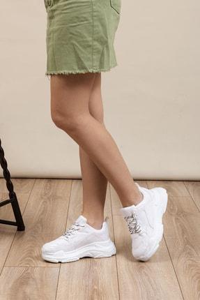 Tonny Black Beyaz Cilt Kadın  Sneaker BLS-Q-1
