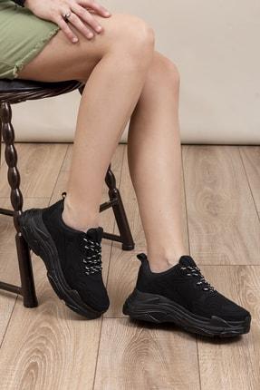 Tonny Black Siyah Süet Kadın Sneaker BLS-Q-1