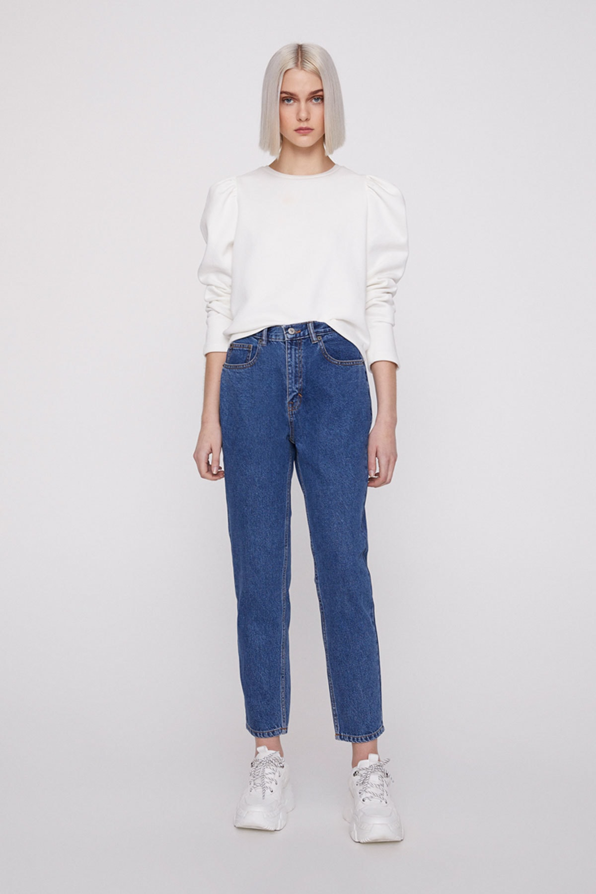 Pull & Bear Basic mom fit jean 1