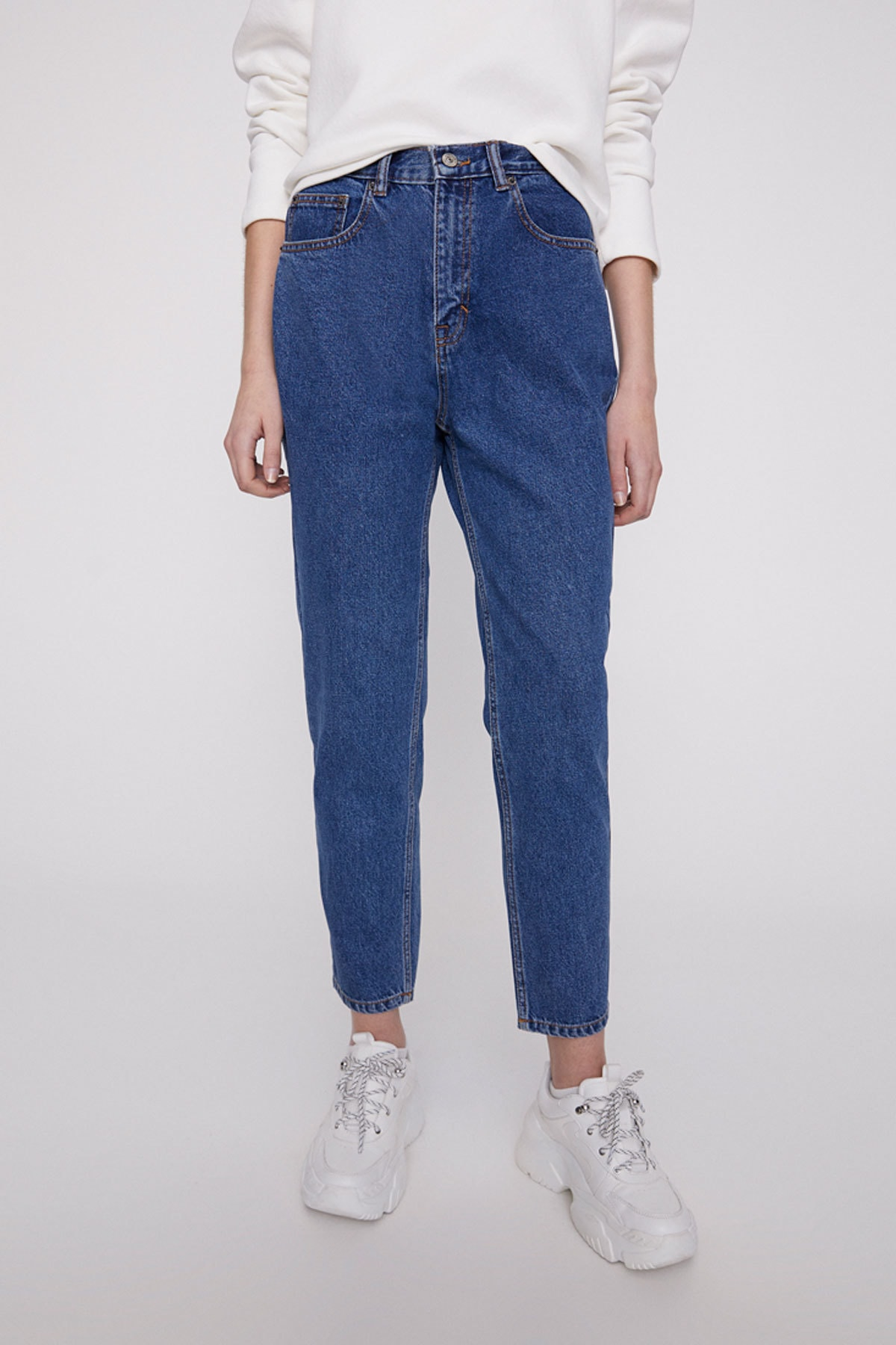 Pull & Bear Basic mom fit jean 2