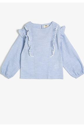 Koton Kids Kız Çocuk Mavi  Çizgili Bluz