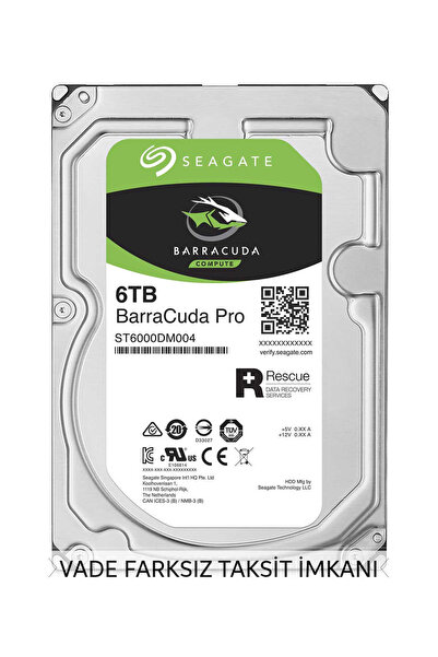 Barracuda Pro 3.5 6TB 7200Rpm 256Mb ST6000DM004