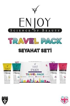 Enjoy Travel Pack Spf 50+ Güneş Kremi & Şampuan & Duş Jeli & Vücut Losyonu 4 x 100 ml 5060409581925