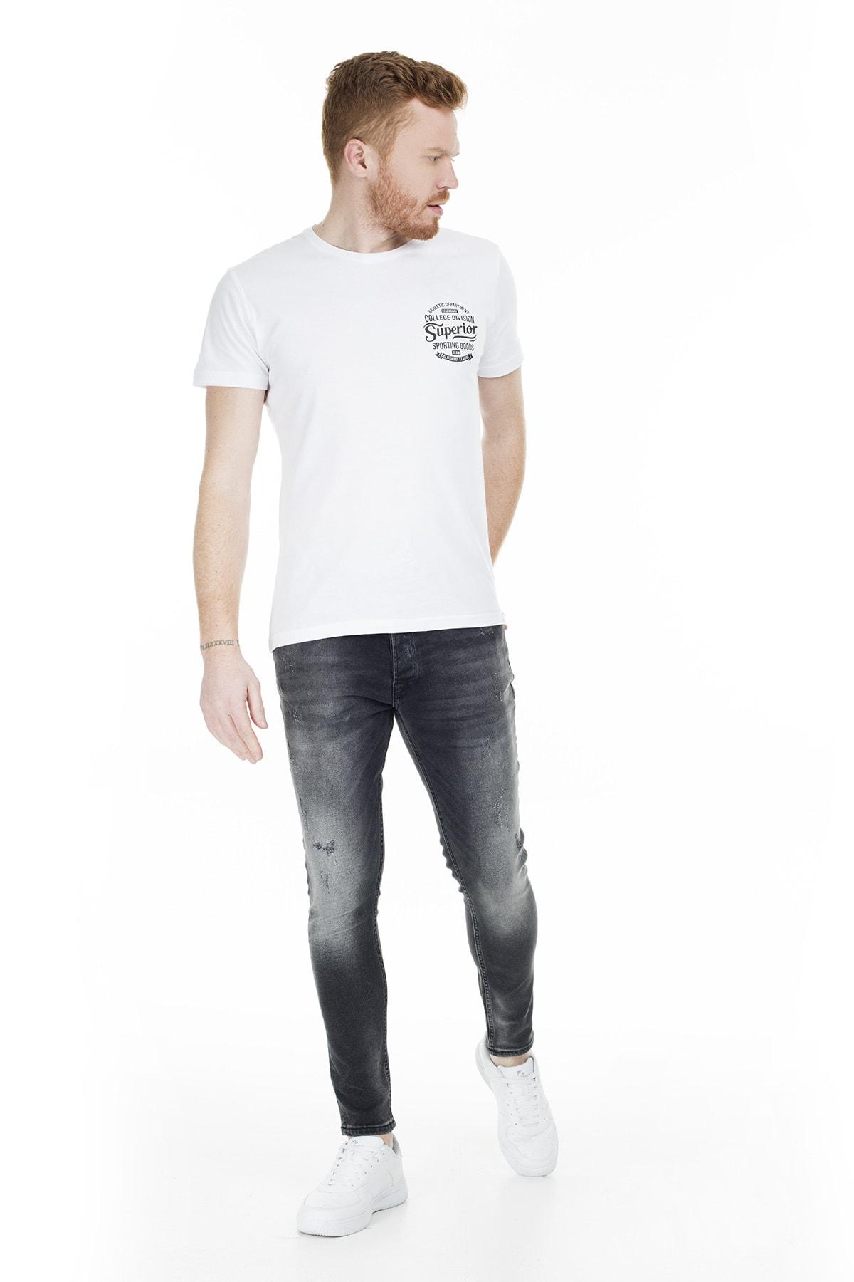 Buratti Erkek SİYAH Normal Bel Dar Paça Skinny Jeans Pamuklu Kot Pantolon 7302N942GHOST