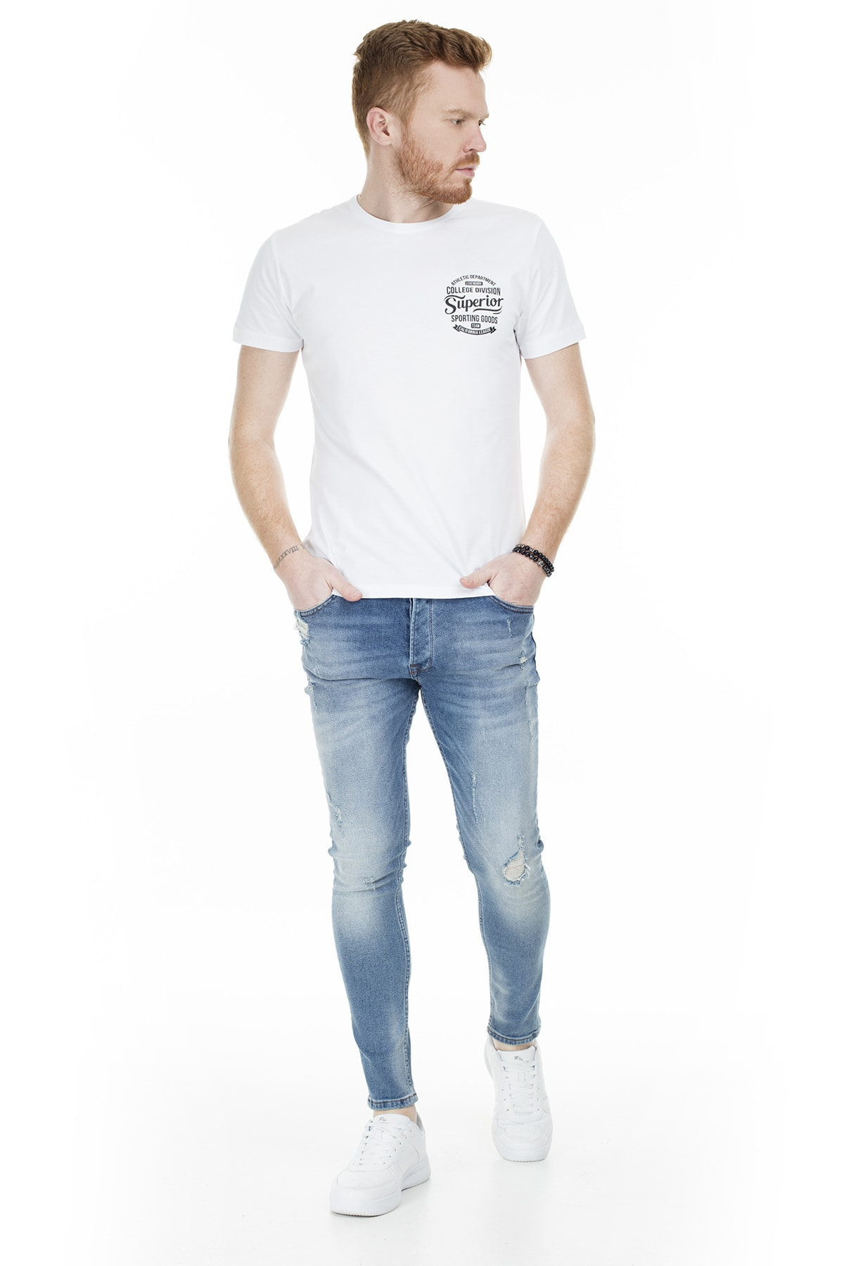 Buratti Erkek AÇIK MAVİ Normal Bel Dar Paça Skinny Jeans Pamuklu Kot Pantolon 7302N9401GHOST