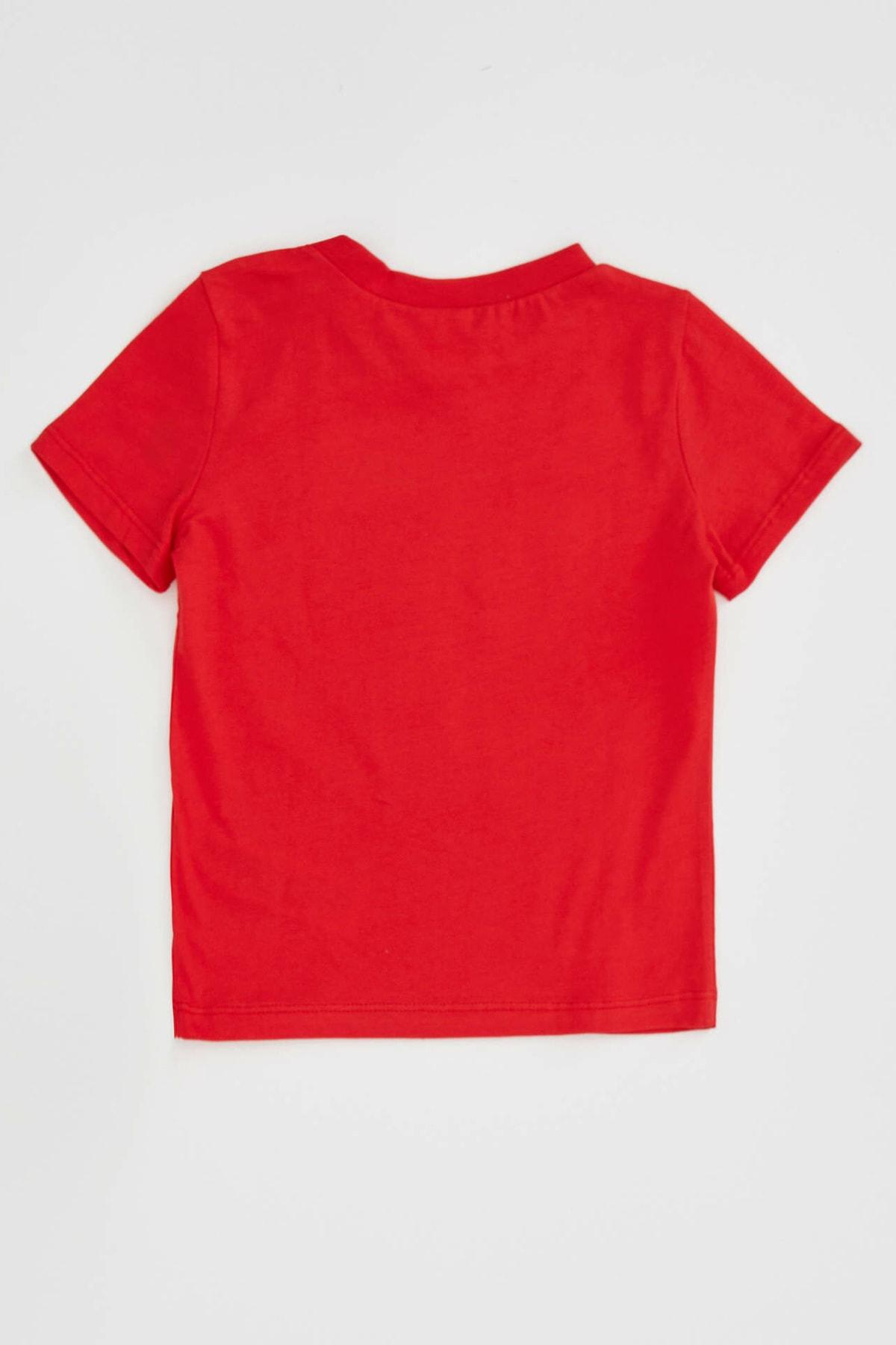 DeFacto Erkek Bebek Kırmızı 23 Nisan Atatürk Baskılı Kısa Kollu T-shirt 2