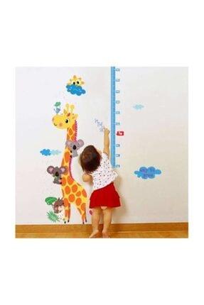 cosy home gift Çocuk Ve Bebek Odası Boy Ölçer Zürafa Bulut Ve Koala Arkadaşları Duvar Dekor Süsleme Sticker Pvc