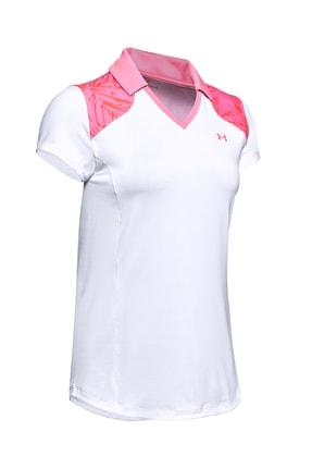 Under Armour Kadın Spor T-Shirt - UA Zinger Blocked Polo - 1350158-102