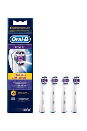 Oral-B Diş Fırçası Yedek Başlığı 3d White 4lü