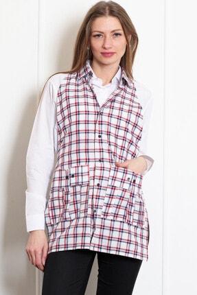 ModaCanel Kadın Kareli Garson Kıyafetleri Mcgmon003
