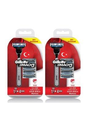 Gillette Tıraş Makinesi Mach-3 + 5 Başlık X 2 Adet