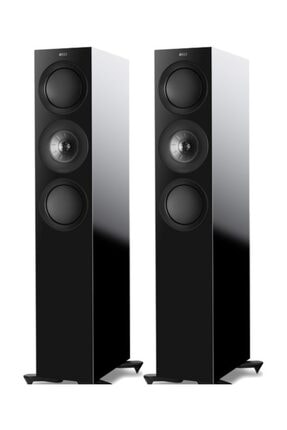 Kef R7 Kule Tipi Pasif Hifi Hoparlör (2'li Set) Siyah