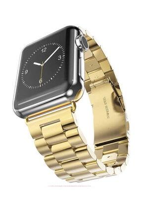 Aksesuarcım Apple Watch 2. Nesil 44mm Renkli Tarz Çelik Saat Kordonu