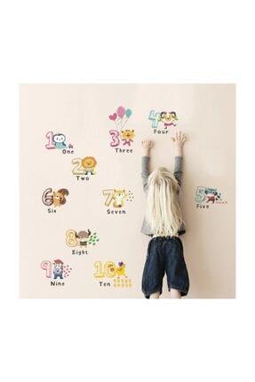 cosy home gift Çocuk Ve Bebek Odasi Sevimli Hayvanlar Sayı Ingilizce Matematik Eğitim Gelişim Duvar Dekor Sticker