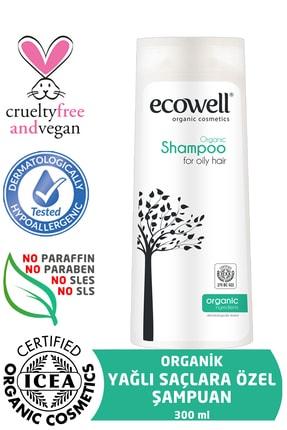 Ecowell Yağlı Saçlar İçin Organik Şampuan 300 ml
