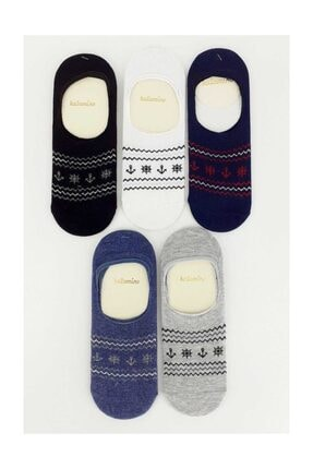 Artı Erkek Çocuk Babet Çorap Çapa Dümenli (12 Adet) Asorti