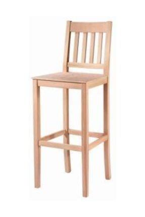 Obuts Home Çıtalı Izgaralı Bar Sandalye 4637 Ahşap Ham