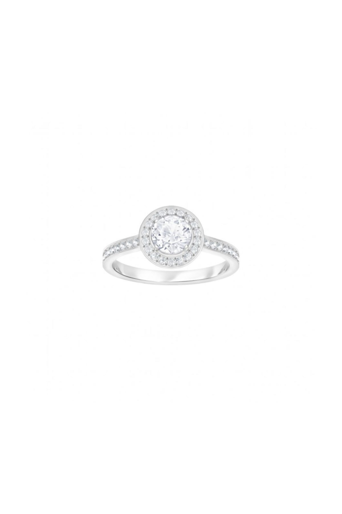 Swarovski Kadın Yüzük Attract:Ring Rnd Light Czwh/Cry/Rhs 58 5409187 1