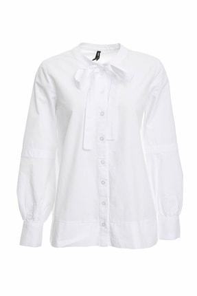 DeFacto Fular Yaka Poplin Gömlek Tunik