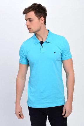 DYNAMO Erkek Açık Turkuaz Polo Yaka Likralı T-shirt T621