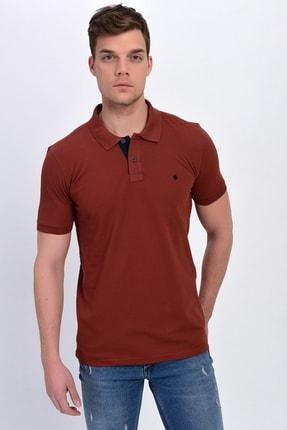 DYNAMO Erkek Kiremit Polo Yaka Likralı T-shirt T621
